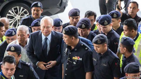 Malaysia's former prime minister faces trial in the 1MDB scandal